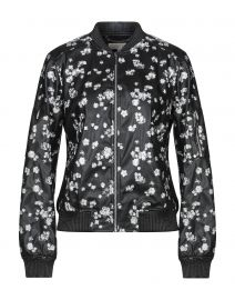 Metallic Embroidered Faux Leather Bomber Jacket at Yoox