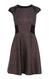 Metallic Jacquard Dress at Karen Millen