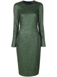 Metallic Jacquard Dress by Dolce Gabbana at Farfetch