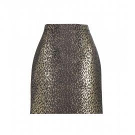 Metallic Jacquard Skirt by Saint Laurent at My Theresa
