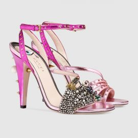 Metallic Leather Sandal by Gucci at Gucci