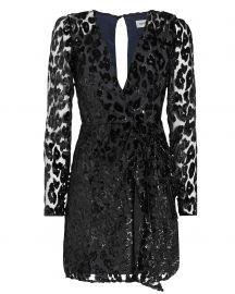 Metallic Leopard Mini Dress at Intermix