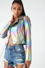 Metallic Moto Jacket by Forever 21 at Forever 21