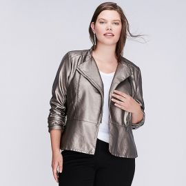 Metallic Moto Jacket by Lane Bryant at Lane Bryant