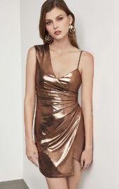 Metallic One Shoulder Sheath Dress at Bcbg