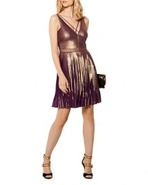 Metallic Pleated Dress at Bloomingdales