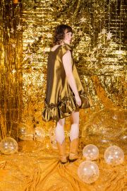 Metallic Puff Dress by Kelsey Randall at Kelsey Randall