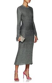 Metallic Rib-Knit Midi-Dress by Cedric Charlier at Barneys