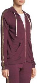 Metallic Side-Stripe Hooded Jacket at Neiman Marcus