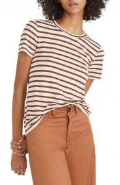 Metallic Stripe Crewneck Tee by Madewell at Nordstrom