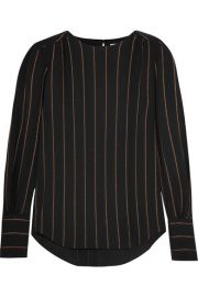 Metallic Striped Crepe Blouse by Chloe at Net A Porter
