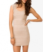 Metallic bandage dress at Forever 21 at Forever 21