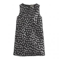 Metallic dot shift dress  at J. Crew