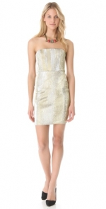 Metallic dress by Alice and Olivia at Shopbop