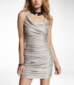 Metallic dress from Express at Express