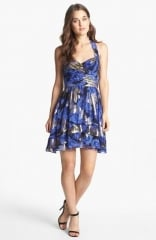 Metallic fit and flare dress by Nicole Miller at Nordstrom