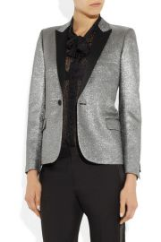 Metallic jacquard tuxedo jacket at Net A Porter