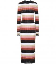 Metallic knitted wool-blend dress by Fendi at Mytheresa