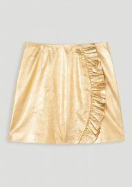 Metallic leather skirt at Tara Jarmon