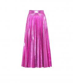 Metallic maxi skirt at Mytheresa