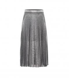 Metallic pleated midi skirt at Mytheresa