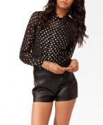 Metallic polka dot shirt like Belles at Forever 21