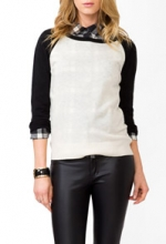Metallic raglan sweater at Forever 21 at Forever 21