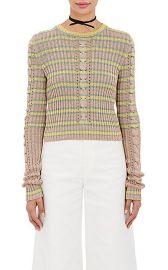 Metallic shrunken fit sweater at Barneys