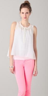 Metallic sleeveless blouse by Rebecca Taylor at Shopbop