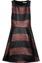 Metallic striped woven dress at The Outnet