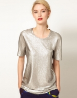 Metallic tee at ASOS at Asos