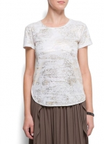 Metallic tee at Mango at Mango
