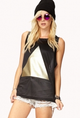 Metallic triangle top at Forever 21