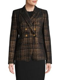 Metallic tweed blazer at Lord & Taylor