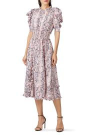 Mia Puff Sleeve Snake Skin dress elliatt at Rent The Runway
