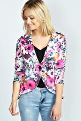 Mia floral blazer at Boohoo