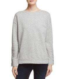 Miaya Lace-Up Sleeve Sweatshirt at Bloomingdales
