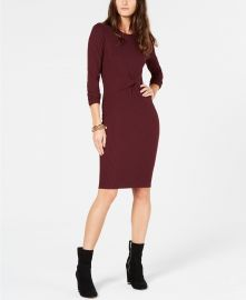Michael Kors Twisted Ribbed-Knit Dress Women - Macy s at Macys