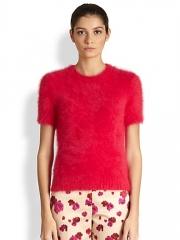 Michael Kors - Short Sleeve Angora-Blend Pullover at Saks Fifth Avenue