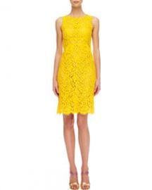 Michael Kors  Floral Lace Empire Shift Dress at Neiman Marcus