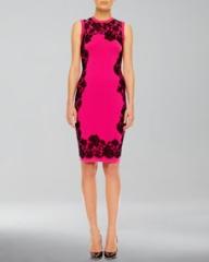 Michael Kors  Lace-Print Cashmere Dress at Neiman Marcus