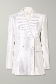 Michael Kors Collection - Double-breasted crystal-embellished crepe blazer at Net A Porter
