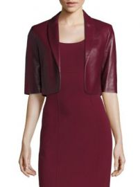 Michael Kors Collection - Leather Cropped Jacket at Saks Fifth Avenue
