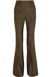 Michael Kors Collection - Metallic wool-blend flared pants at Net A Porter