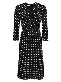 Michael Kors Collection - Polka Dot Midi Dress at Saks Fifth Avenue