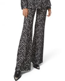 Michael Kors Collection Brooke Bonded Lace Side-Zip Pants at Neiman Marcus