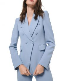 Michael Kors Collection Crepe Double-Breasted Blazer at Neiman Marcus