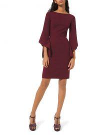 Michael Kors Collection Crepe Draped-Sleeve Sheath Dress at Neiman Marcus