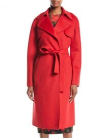 Michael Kors Collection Double-Face Cashmere Melton Trench Robe Coat at Neiman Marcus
