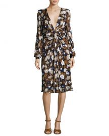Michael Kors Collection Floral Knotted Dress at Bergdorf Goodman